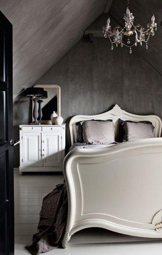 Фотография: Спальня в стиле Лофт, Дом, Цвет в интерьере, Дома и квартиры, Серый – фото на InMyRoom.ru