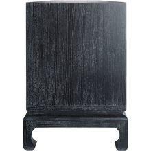 Комод с тремя ящиками черного цвета