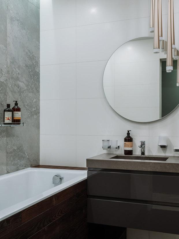 Фотография: Ванная в стиле Современный, Квартира, Проект недели, Москва, 4 и больше, Более 90 метров – фото на INMYROOM
