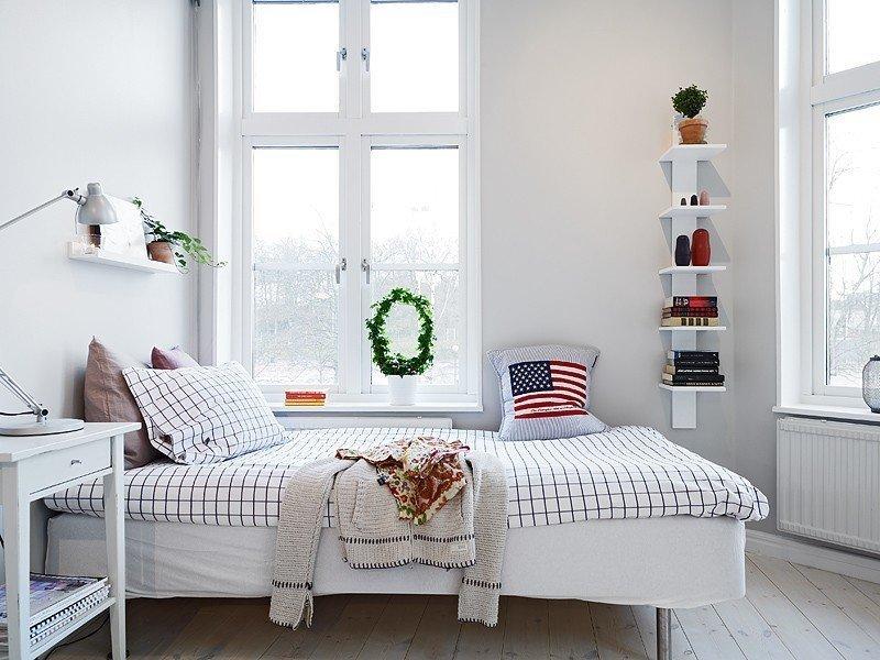 Фотография: Спальня в стиле Скандинавский, Малогабаритная квартира, Квартира, Дома и квартиры, Гетеборг – фото на InMyRoom.ru