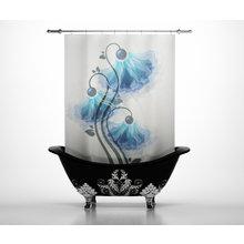 Штора для ванной: Нежные колокольчики