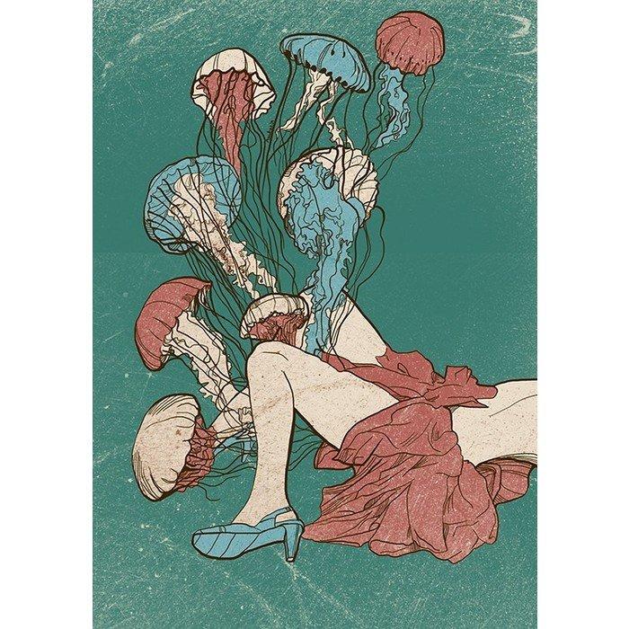 Принт Jellyfish А1