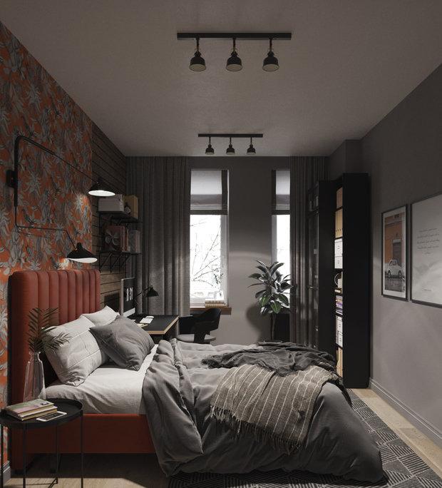 Фотография: Спальня в стиле Современный, Квартира, Проект недели, Москва, Юлия Чернова, 1 комната, до 40 метров – фото на INMYROOM