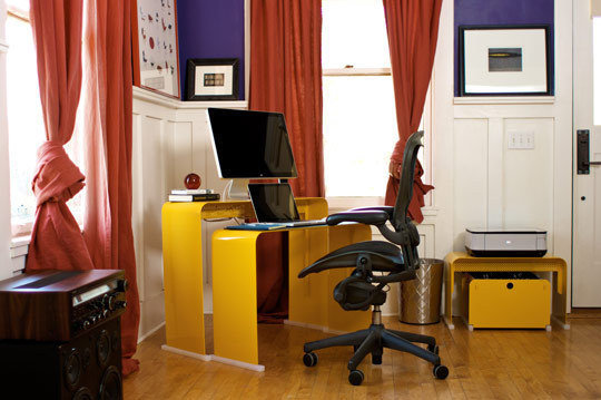 Фотография: Кабинет в стиле Эклектика, Интерьер комнат – фото на InMyRoom.ru