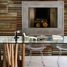 Фотография: Гостиная в стиле Эклектика, Декор интерьера, Декор дома, Обои, Стены – фото на InMyRoom.ru