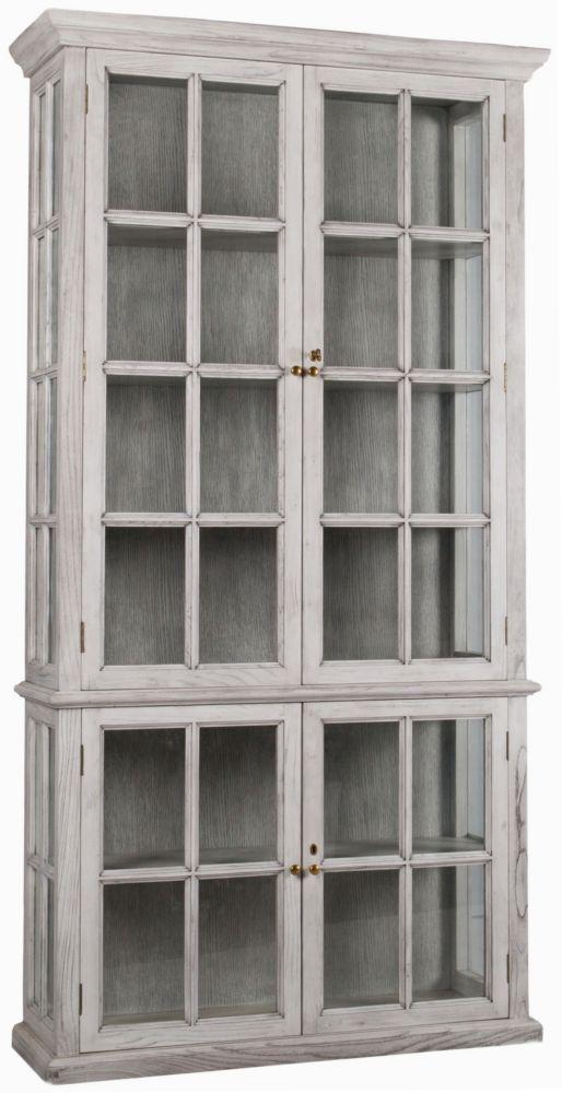 Шкаф книжный Grey серого цвета