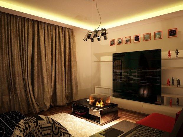 Фотография: Гостиная в стиле Современный, Малогабаритная квартира, Квартира, Дома и квартиры, IKEA, Ремонт, П-111М – фото на InMyRoom.ru