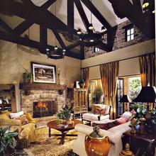Фотография: Гостиная в стиле Кантри, Декор интерьера, Декор дома, Цвет в интерьере – фото на InMyRoom.ru