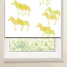 Рулонные шторы в офис: Тропические зебры