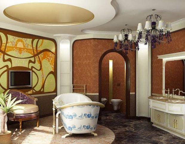 Фотография: Ванная в стиле Классический, Декор интерьера, Модерн, модерн в интерьере – фото на InMyRoom.ru