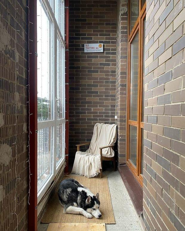 Фотография: Балкон в стиле Лофт, Скандинавский, Современный, Квартира, Студия, Проект недели, Монолитно-кирпичный, Сбербанк – фото на INMYROOM