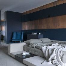 Фотография: Спальня в стиле Современный, Квартира, Проект недели, 3 комнаты, Более 90 метров, Светлогорск, Марина Кутузова, Дизайн-студия «Детали» – фото на InMyRoom.ru