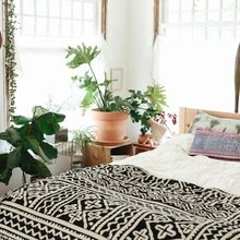 Фото из портфолио Интерьер, богатый текстилем и растениями  – фотографии дизайна интерьеров на INMYROOM