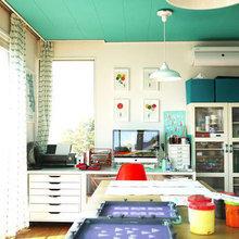 Фотография: Кабинет в стиле Скандинавский, Декор интерьера, Дизайн интерьера, Цвет в интерьере – фото на InMyRoom.ru