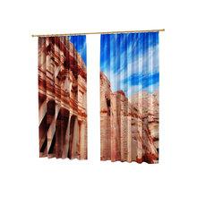 Фотошторы с печатью: Замок в скалах