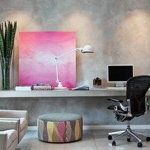 Фотография: Кабинет в стиле Минимализм, Квартира, Цвет в интерьере, Дома и квартиры – фото на InMyRoom.ru
