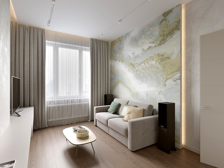 Фотография: Гостиная в стиле Современный, Miele, Проект недели, 2 комнаты – фото на InMyRoom.ru