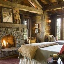 Фотография: Спальня в стиле Кантри, Современный, Декор интерьера, Декор дома, Камин – фото на InMyRoom.ru