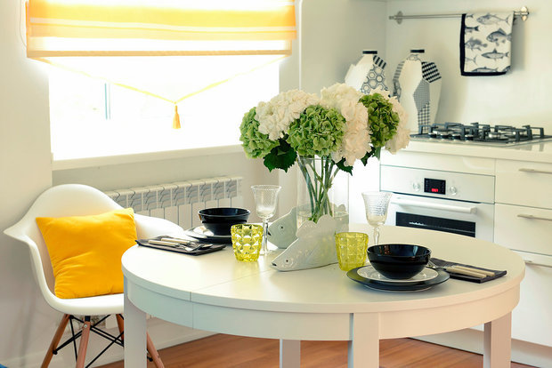 Фотография: Кухня и столовая в стиле Скандинавский, Квартира, Проект недели – фото на INMYROOM