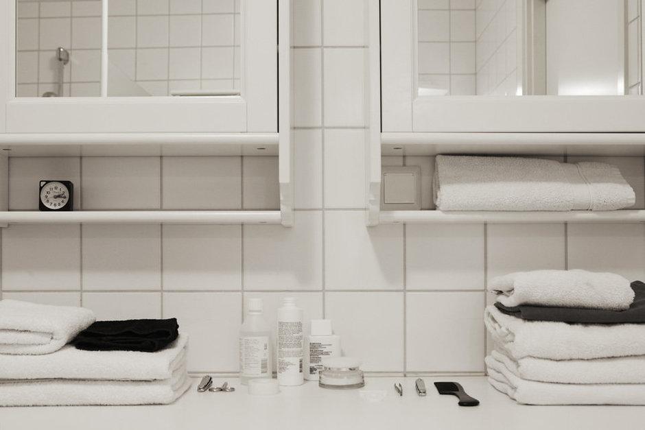 Фотография: Ванная в стиле Скандинавский, Современный, Детская, Квартира, Швеция, Цвет в интерьере, Дома и квартиры, Белый – фото на InMyRoom.ru