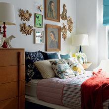 Фотография: Спальня в стиле , Декор интерьера, Малогабаритная квартира, Квартира, Дома и квартиры, Нью-Йорк, Блошиный рынок – фото на InMyRoom.ru