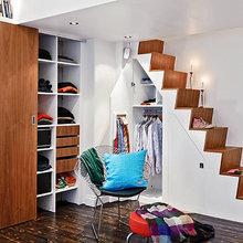 Фотография: Гардеробная в стиле Скандинавский, Малогабаритная квартира, Квартира, Швеция, Дома и квартиры – фото на InMyRoom.ru