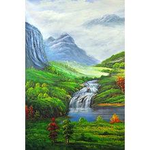 """Модульная картина на холсте """"Альпийский пейзаж"""""""