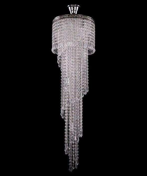 Каскадная люстра Bohemia Ivele с декоративным плафоном из стекла