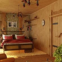 Фотография: Спальня в стиле Кантри, Квартира, Дома и квартиры, Фитостены – фото на InMyRoom.ru