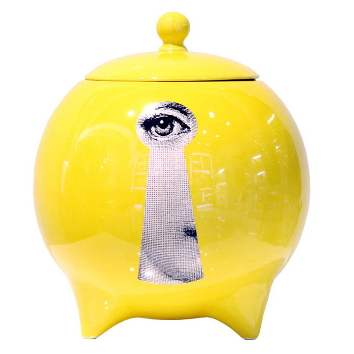 Декоративная ваза с крышкой La Chiave Yellow
