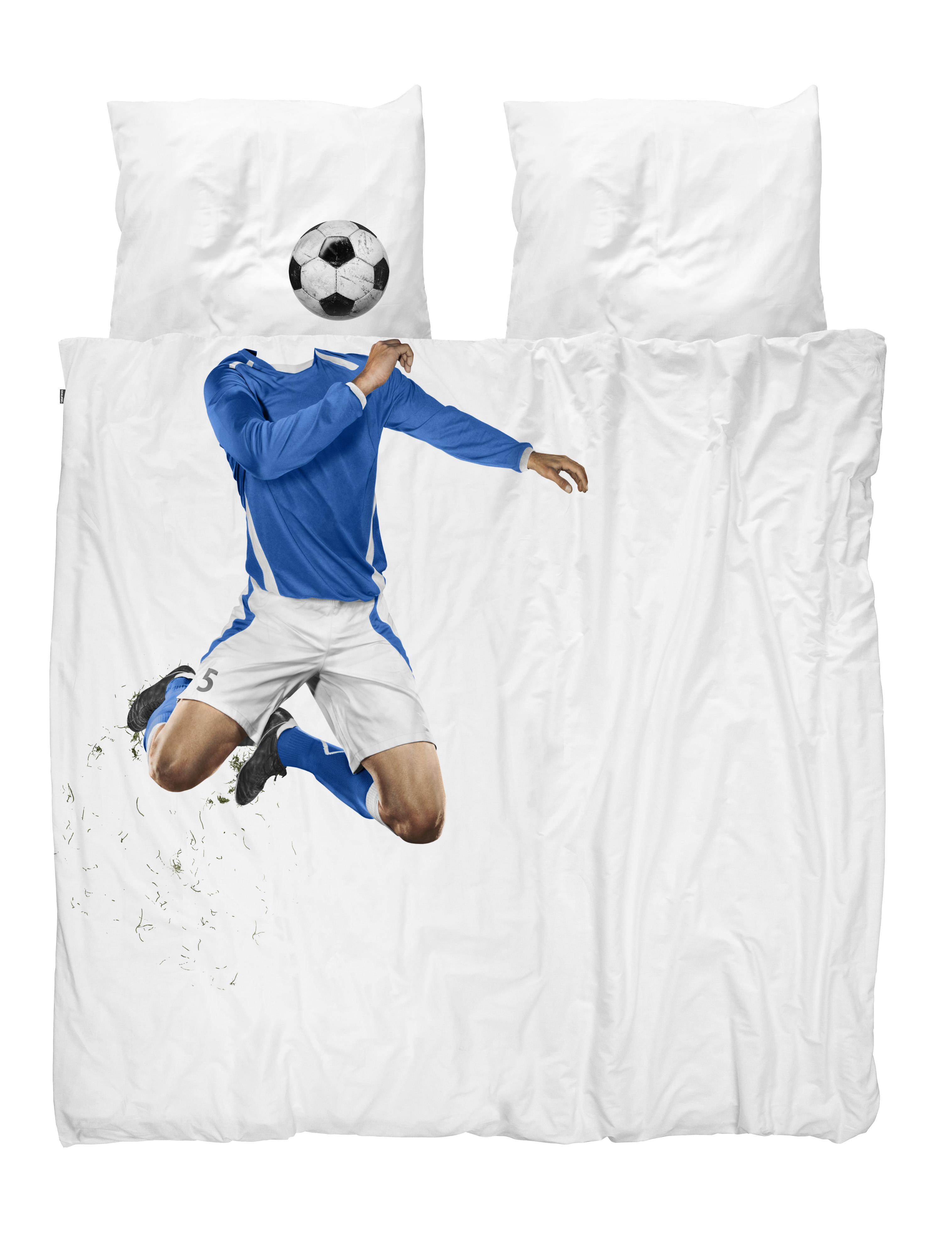Комплект постельного белья футболист синий 200х220