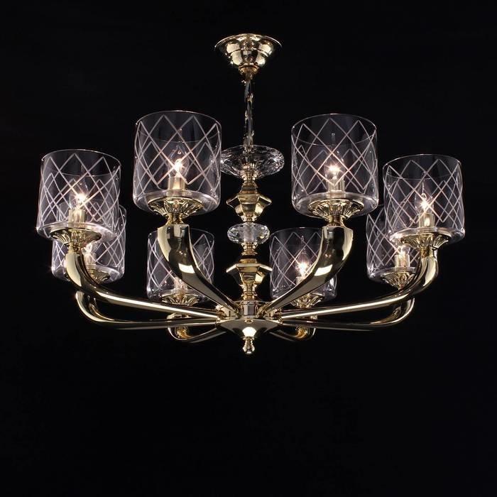 Подвесная люстра Citilux Spirito Oro с прозрачными плафонами