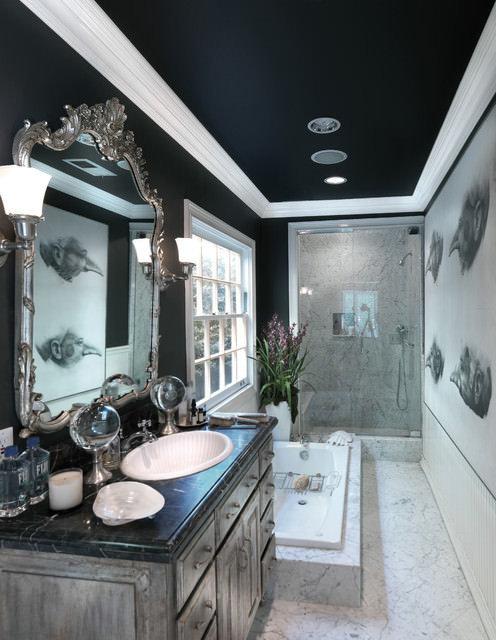 Фотография: Ванная в стиле Эклектика, Декор интерьера, Дизайн интерьера, Цвет в интерьере – фото на InMyRoom.ru