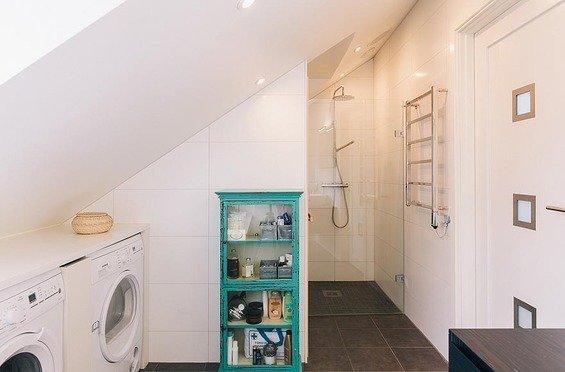 Фотография: Ванная в стиле Скандинавский, Декор интерьера, Квартира, Дома и квартиры, Пентхаус, Стокгольм, Мансарда – фото на InMyRoom.ru