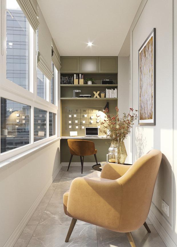 Фотография: Балкон в стиле Современный, Прихожая, Квартира, Проект недели, Москва, 2 комнаты, 40-60 метров – фото на INMYROOM