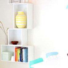 Фотография: Кухня и столовая в стиле Современный, Малогабаритная квартира, Квартира, Цвет в интерьере, Дома и квартиры, Цветы – фото на InMyRoom.ru