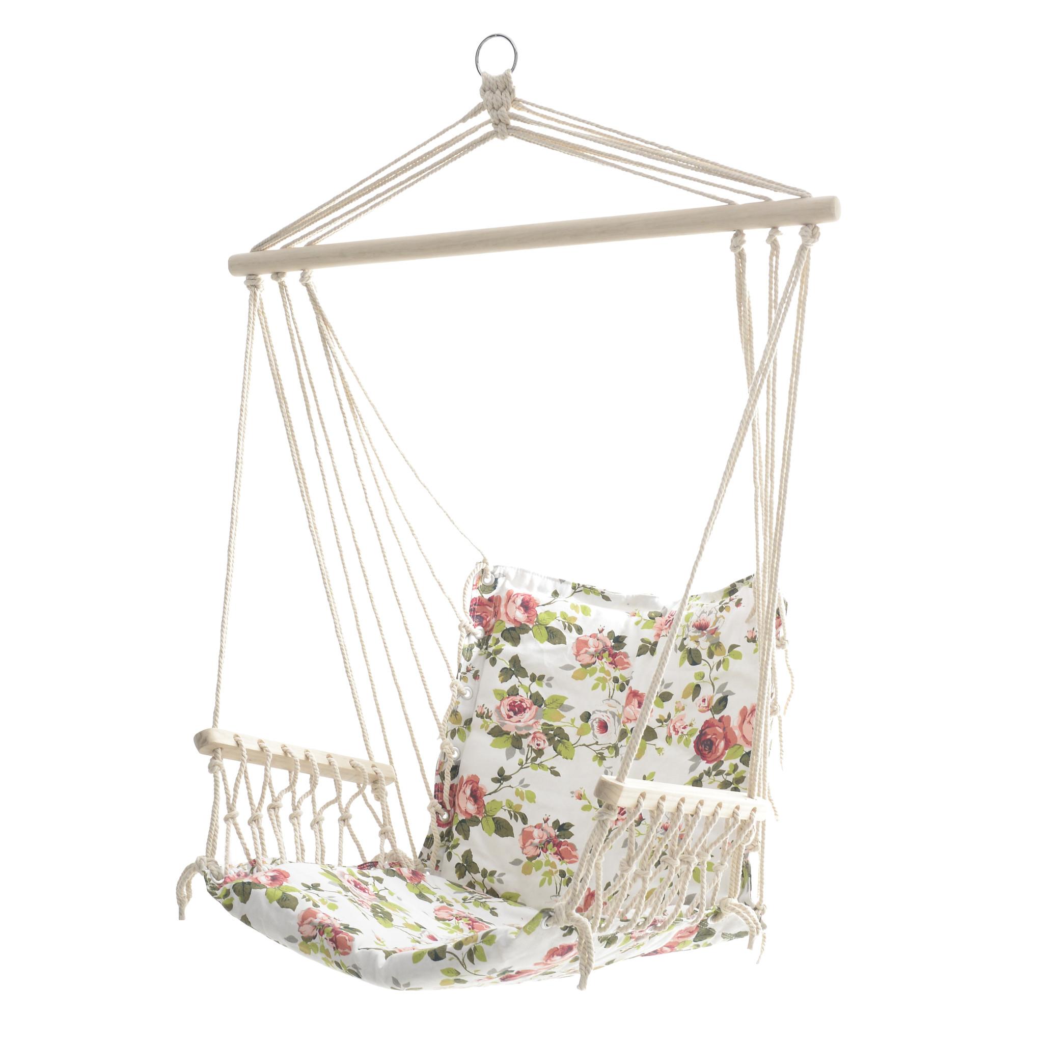 Кресло-гамак с цветочным принтом