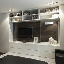 Фотография: Гостиная в стиле Современный, Квартира, Дома и квартиры, Проект недели – фото на InMyRoom.ru