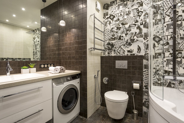 Фотография: Ванная в стиле Современный, Лофт, Квартира, Проект недели – фото на InMyRoom.ru