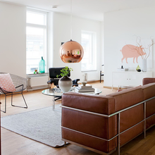 Фотография: Гостиная в стиле Скандинавский, Малогабаритная квартира, Квартира, Австралия, Цвет в интерьере, Дома и квартиры, Белый, Ретро – фото на InMyRoom.ru