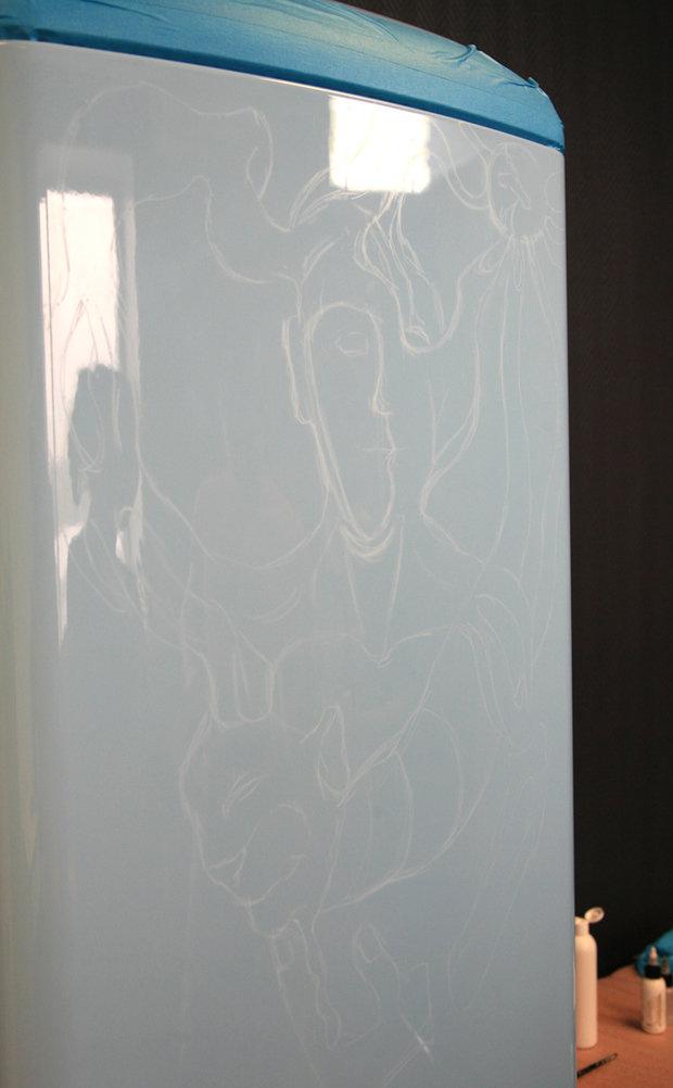 Фотография: Прочее в стиле , Декор интерьера, DIY, Роспись, Холодильник – фото на InMyRoom.ru