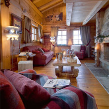 Фотография: Гостиная в стиле Кантри, Дом, Дома и квартиры, Камин – фото на InMyRoom.ru