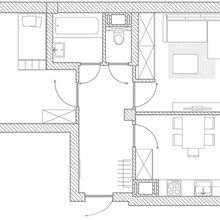 Фото из портфолио Двухкомнатная квартира 56.83 – фотографии дизайна интерьеров на InMyRoom.ru