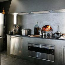 Фотография: Кухня и столовая в стиле Кантри, Лофт, Дом, Терраса, Цвет в интерьере, Дома и квартиры, Бассейн, Стены, Греция – фото на InMyRoom.ru