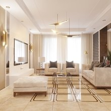 Фото из портфолио Кухня -гостиная. Очень теплая и уютная, стильная .  – фотографии дизайна интерьеров на INMYROOM