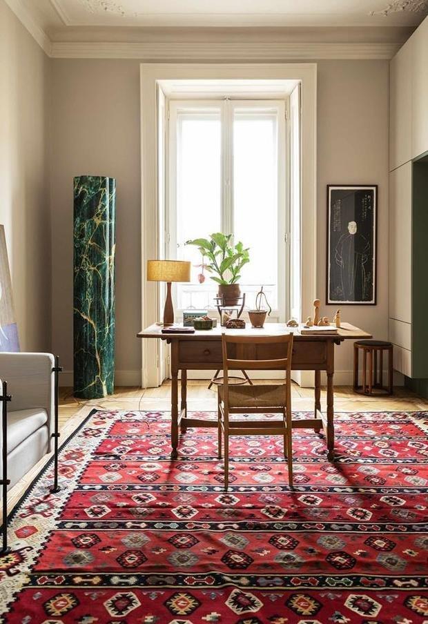 Фотография: Кабинет в стиле Скандинавский, Современный, Восточный, Эклектика, Декор интерьера, Квартира, 2 комнаты – фото на INMYROOM