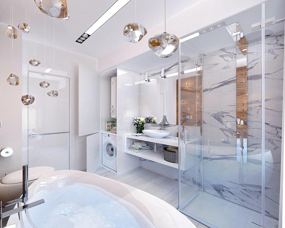 Фотография: Ванная в стиле Эко, Современный, Квартира, Планировки, Проект недели – фото на InMyRoom.ru