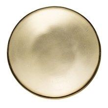 Золотой металлический поднос круглый