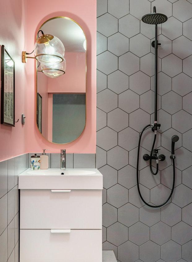 Фотография: Ванная в стиле Современный, Квартира, Студия, Проект недели, 40-60 метров, Малика Баранбаева – фото на INMYROOM