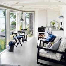 Фотография: Кухня и столовая в стиле Скандинавский, Балкон, Интерьер комнат – фото на InMyRoom.ru